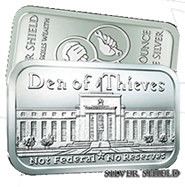 1 oz Silver Shield Silver BU Bars