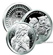 1 oz Silver Shield Silver Proof Rounds