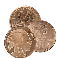 5 oz Copper Bullion Rounds