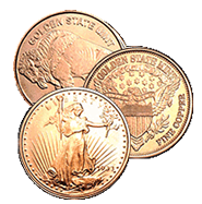 1/2 oz Copper Bullion Rounds