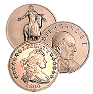 1 oz Copper Bullion Rounds