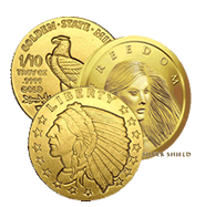 1/10 Oz Gold Coins & Rounds