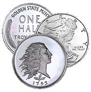 1/2 oz Fractional Silver Rounds