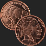 1/4 oz Buffalo Copper Bullion Round .999 Fine