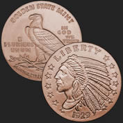 Indian 1/4 oz Copper Coin