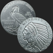 1/4 oz Incuse Indian Fractional Silver Round .999 Fine