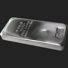 1 Kilo (32.15 ozt) GSM Silver Bullion Bar .9999+ Fine (Cast)