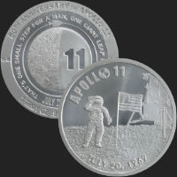 1 oz Apollo 11 50th Anniversary Silver Round