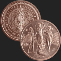 1 oz Esoteric Virtues MiniMintage BU Copper Round .999 Fine