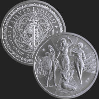 1 oz Esoteric Virtues MiniMintage BU Silver Round