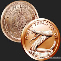 1 oz Don't Tread On Me Snake Copper Round .999 Fine