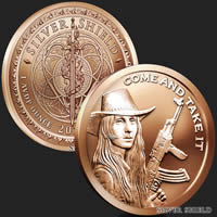 1 oz Come and Take It Copper Round .999 Fine