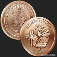 1 oz Competition Is A Sin Copper Round .999 Fine