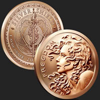 1 oz Freedom Girl Copper Round .999 Fine