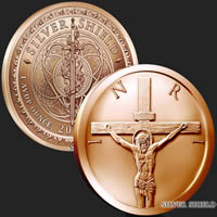 1 oz Crucifixion Copper Round