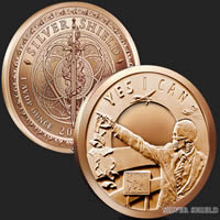 1 oz Seven Sins of Obama Copper Bullion Round .999 Fine