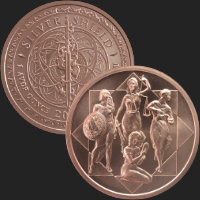 1 oz Cardinal Virtues MiniMintage BU Copper Round