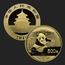 1 oz Chinese Gold Panda Coin BU (Random Year, Sealed)