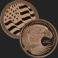 1 oz GSM Copper Eagle Round