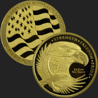 1 oz GSM Gold Eagle Bullion Round