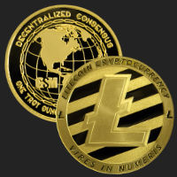 1 oz Litecoin Gold Bullion Round .9999 Fine (capsule included)