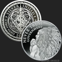 1 oz Never Trust Government V2 MiniMintage Proof Silver Round