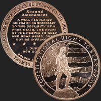 1 oz Second Amendment | Right to Bear Arms Copper Bullion Round .999 Fine