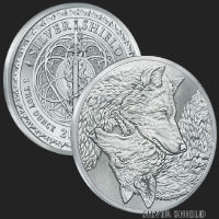 1 oz Two Wolves BU Silver Round
