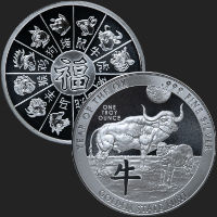 1 oz Year of the Ox Silver Round