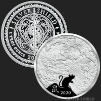 1 oz Year of the Rat Lunar MiniMintage Proof Silver Round