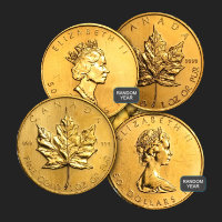 1 oz Canadian Gold Maple Leaf (Random Year, Abrasions)