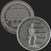 1 oz Second Amendment | Right to Bear Arms Antiqued Silver Round .999 Fine (capsule included)