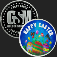 1 oz Happy Easter Silver Round .999 Fine (capsule included)