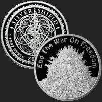 1 oz End the War on Freedom Proof Silver Round .999 Fine