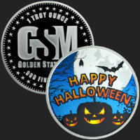 1 oz Happy Halloween Silver Round .999 Fine (capsule included)