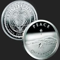 2 oz Peace On Earth MiniMintage Proof Silver Round .999 Fine