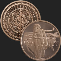 1 oz Manifest Destiny BU Copper Round Silver Shield .999 Fine