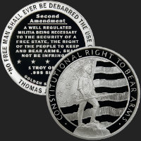 1 oz Second Amendment Silver Round .999 Fine