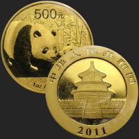 2011 China 1 Oz Gold Panda BU .999