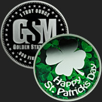 1 oz Happy St. Patrick's Day Silver Round .999 Fine (capsule included)