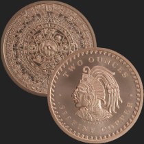 2 oz Aztec Calendar Copper Round