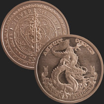 2 oz Dollar Dragon MiniMintage BU Copper Round .999 Fine