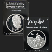 2 oz Frazetta Swordsman of Mars Proof Silver Round