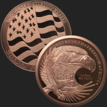2 oz GSM Copper Eagle Round