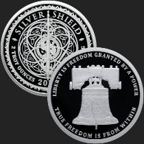 2 oz Liberty Bell MiniMintage Proof Silver Round