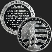 2 oz Second Amendment | Right to Bear Arms Silver Round .999 Fine