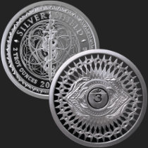 2 oz Third Eye Chakra MiniMintage Proof Silver Round