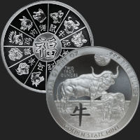 2 oz Year of the Ox Silver Round