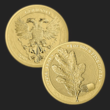2019 1 oz Germania Gold Oak Leaf Coin BU
