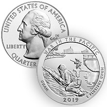 2019 5 oz ATB War in the Pacific National Historical Park Silver Coin (BU)